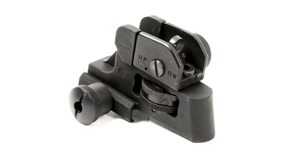 JE Machine Tech Match-Grade Fixed/Detachable A2 Rear Iron Sight