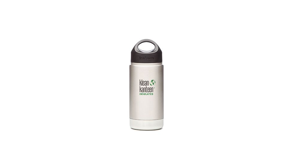 Klean Kanteen Insulated Wide Mouth Bottle, Brushed Stainless 16 oz
