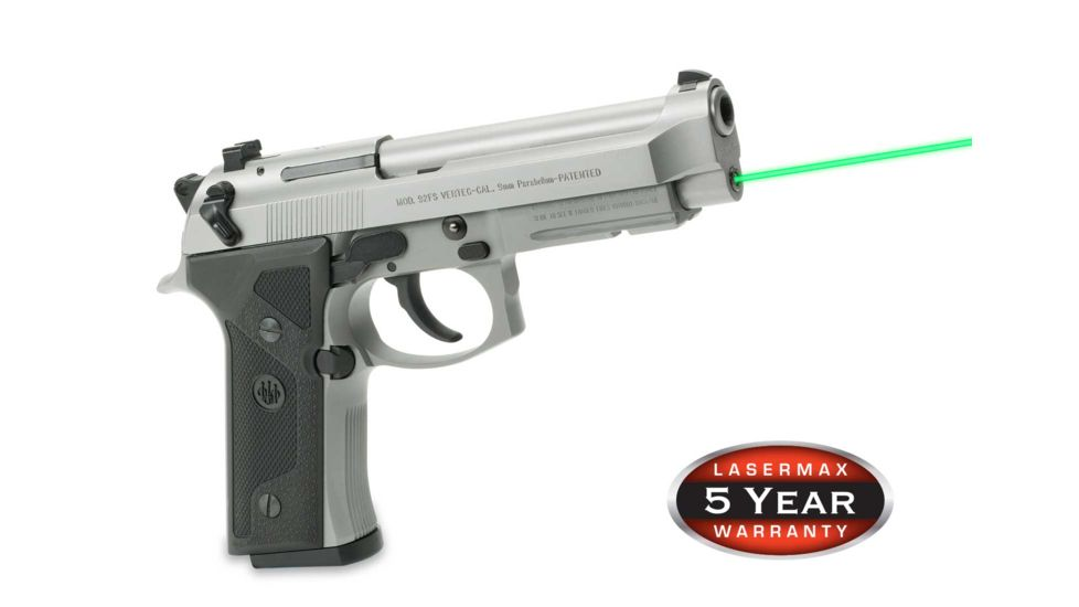 LaserMax Green Laser Sight for Beretta 92, 96 and Taurus 92, 99, 100, 101