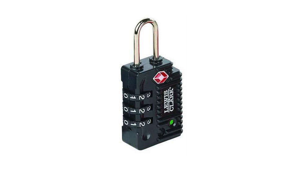 Lewis N Clark Travel Sentry Indicator Combo Lock w/ Status Alert