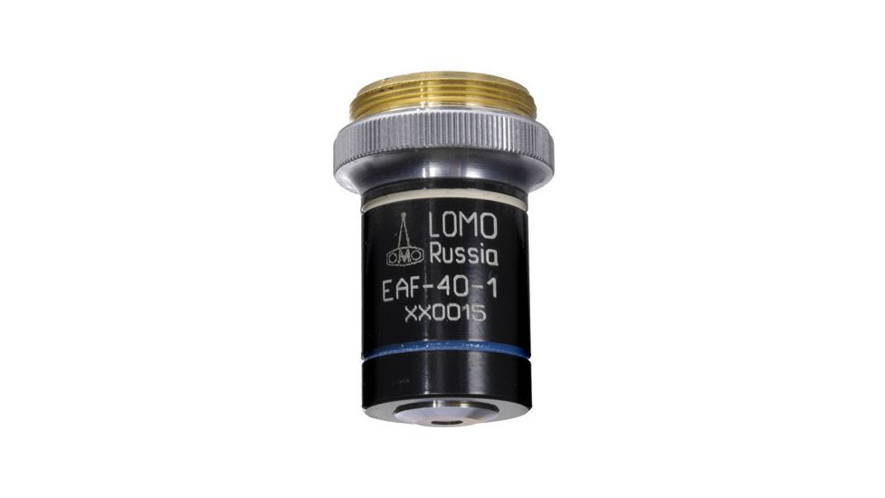 LOMO Objective, Achromat, 40x, 0.75 N.A., H2O Immersion, RMS