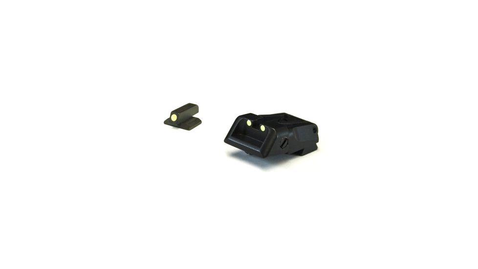 LPA Adjustable Kimber Luminova Sight Set