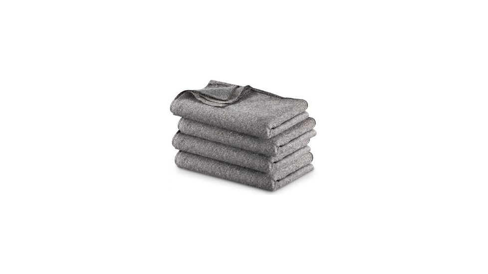 Military Surplus Gray Wool Blend Blanket