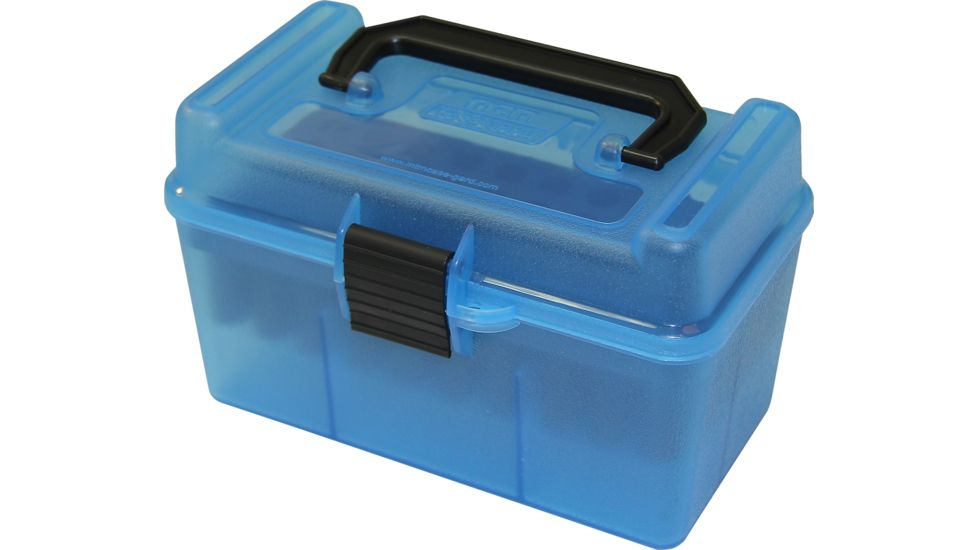 MTM H50 Ammunition Box .22-250 to .308 Winchester Blue H50-RM-24