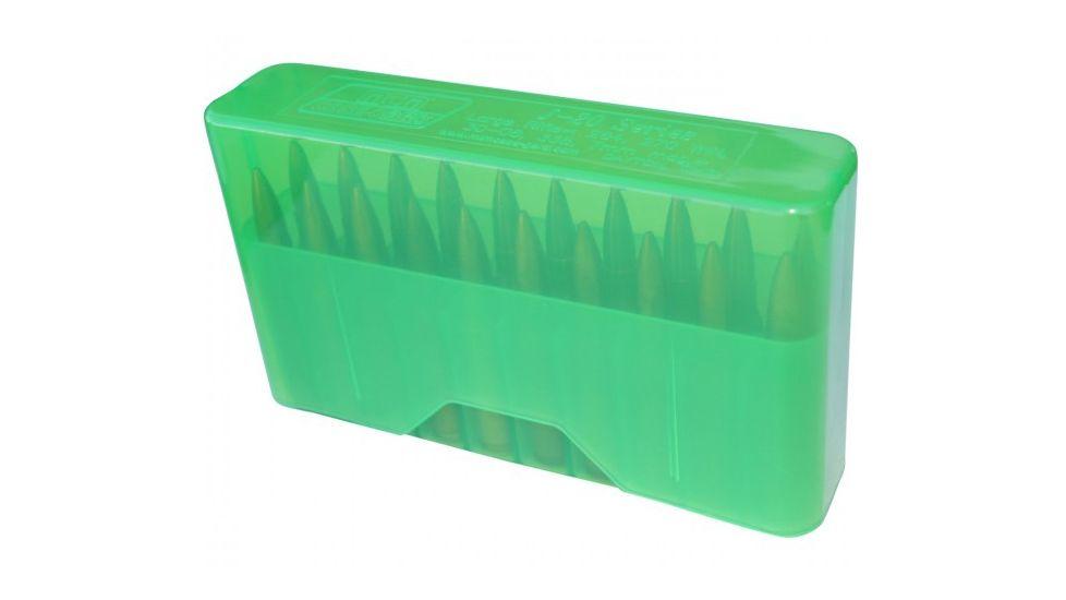 MTM J-20 Slip-Top Boxes .17/.223/.222 Magnum Clear Green J-20-XS-16