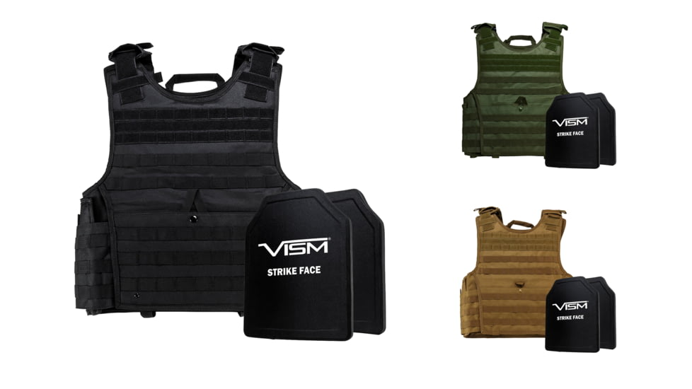 NcSTAR Expert Carrier Vest w/Two 10x12in Shooters Cut Hard PE Ballistic Panels