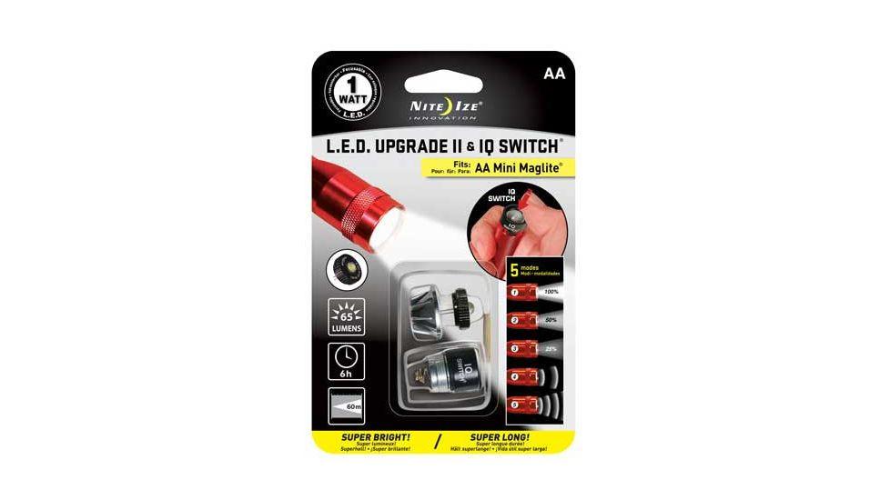 NiTe Ize 1 Watt LED Flashlight Upgrade 2 and I.Q. Switch NIQ2-07-1WC