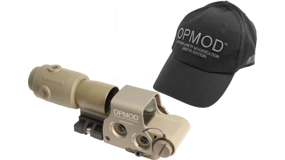 EOTech OPMOD MPO III EXPS2-0 Holo Sight with 3x G23 Magnifier - 65 MOA ring and 1MOA dot Reticle, Tan