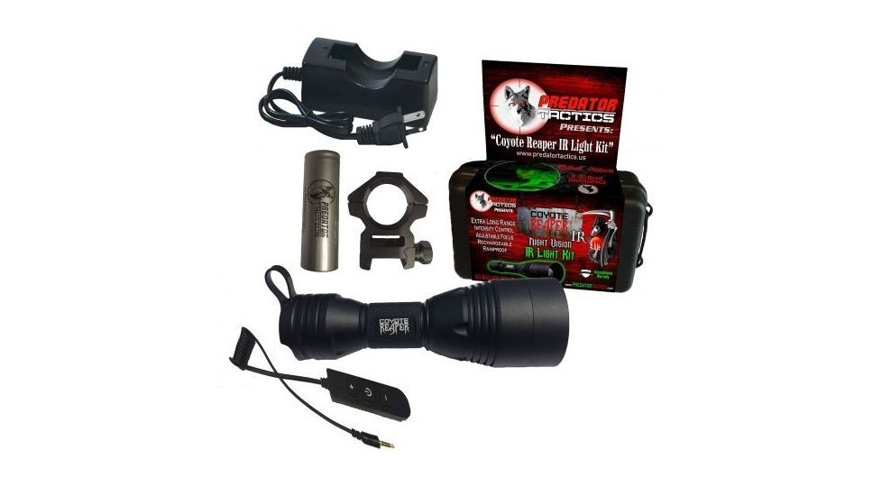 Predator Tactics Coyote Reaper IR (Infrared) Hunting Light Kit for Night Vision Optics