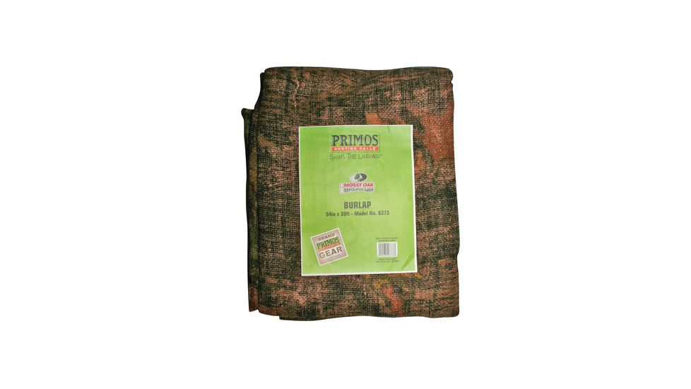 Primos Burlap Material Pre-Cut 12 Feet Long and 54 Inches Wide Mossy Oak New Break Up Camouflage Pattern 6372