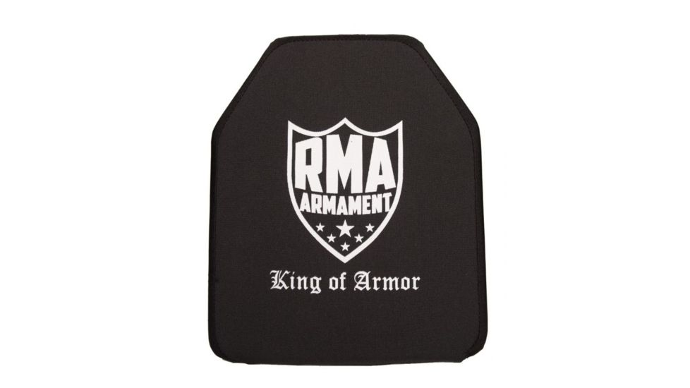 RMA Armament Level IV Single-Curve Ballistic Rifle Plate, 10x12in