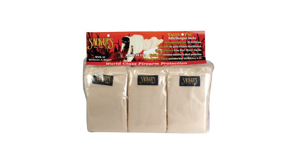 Sack Ups Value-Pac Camo Field 6 Per Pack Natural 52 Inch 301S