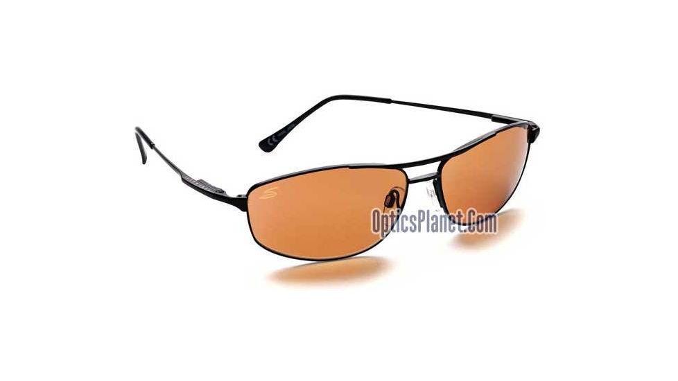 Serengeti Coupe Sunglasses w/ Drivers Lenses, Black Metal Frame