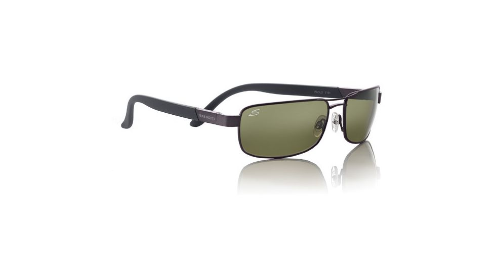 Serengeti Paolo Sunglasses - Satin Medium Gun Frame, 555nm Polarized Lens 7191