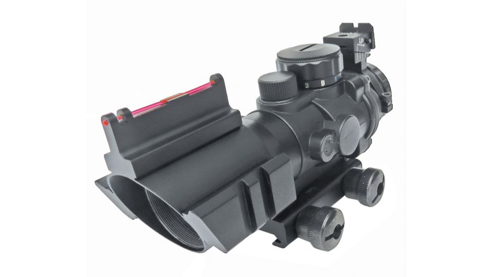 Sun Optics 4x32 Prismatic IR Red Dot Sight w/ Fiber Optic Sights