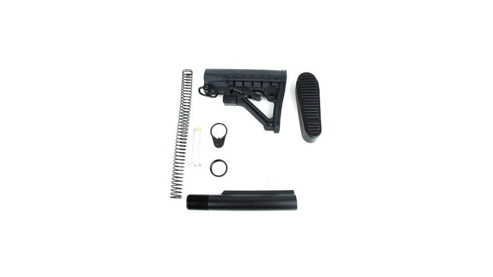 Tacfire AR15 Buffer Tube Kit w/6 Position Stock & Buttpad