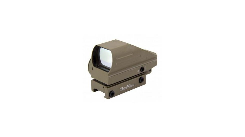 Tacfire Dual Illuminated Sight w/4 Different Reticles, Extended Hood Housing