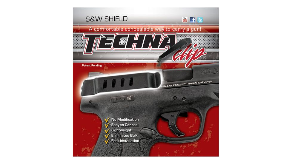 Techna Clips Handgun Retention Clip S&w Shield Auto Right