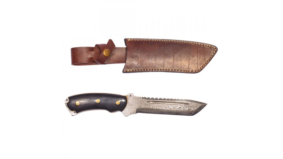 Titan Steel Fixed Knife, Bull Horn Handle, 6in. Knife TDK-39