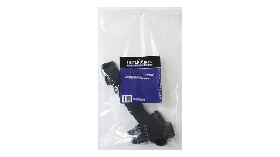 Uncle Mike's Law Enforcement Black Kydex Tactical Holster Platform w/ Straps