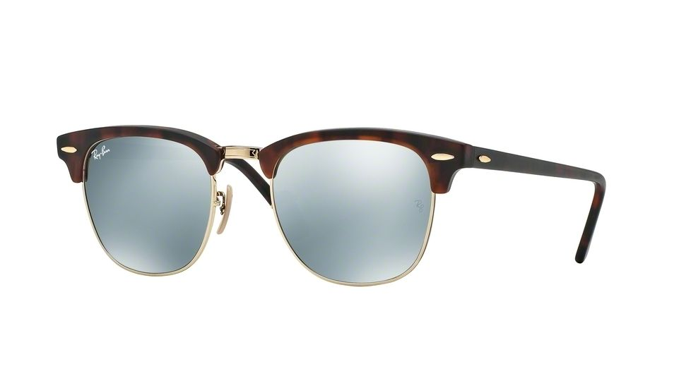 ray ban clubmaster size 51  ray ban clubmaster ebony arista sunglasses rb3016w0365 51