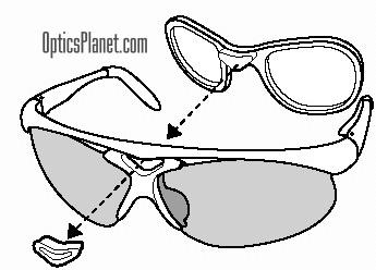 5f711b4d21 Bolle Prescription Rx Adapter Instructions for Bolle Parole   Bolle  Vigilante Sunglasses. Remove the rubber triangle from the middle frame by  pushing the ...