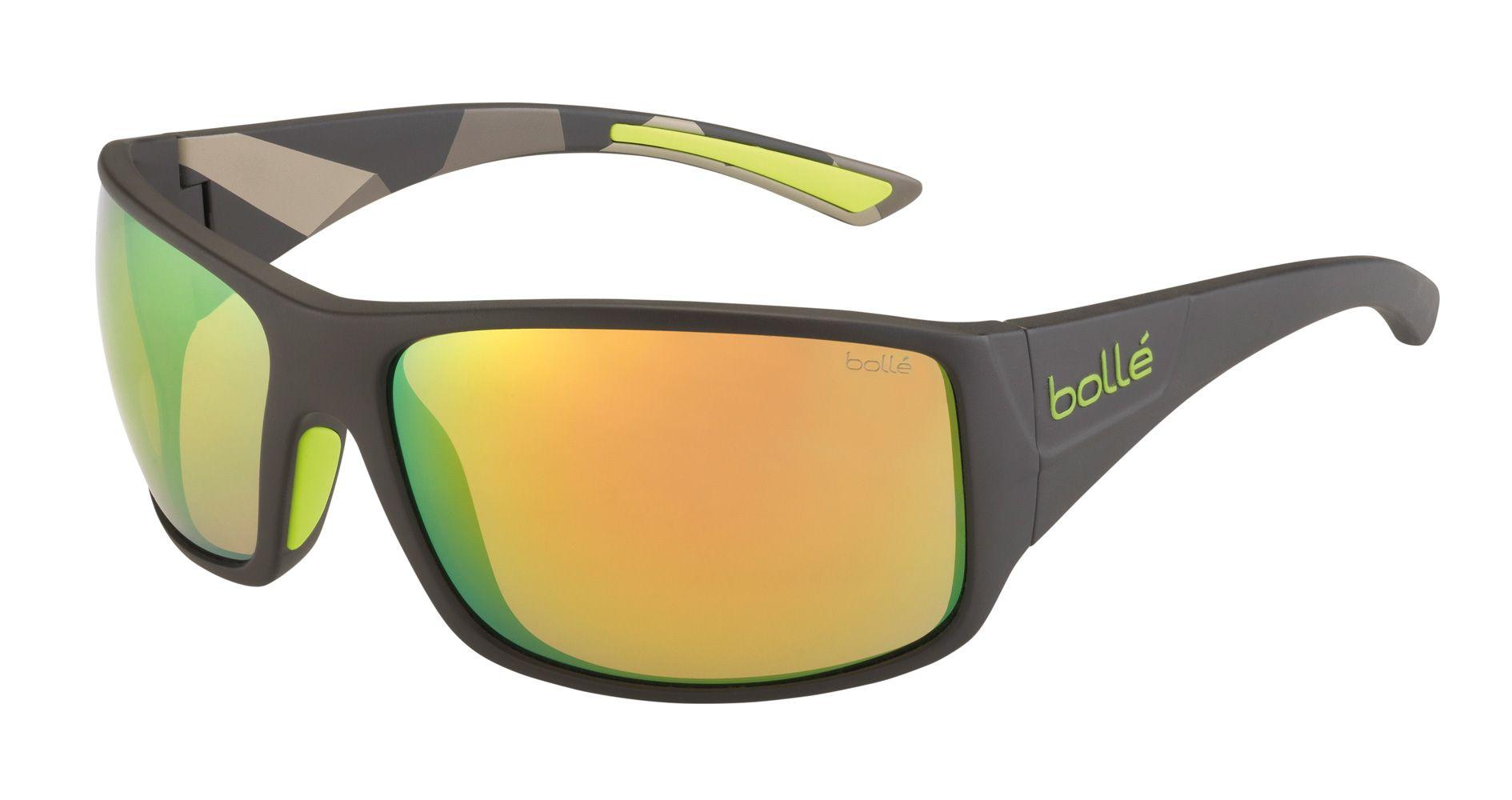 38a10a06ffd02 Bolle Tigersnake Sunglasses Matte Smoke green Frame Brown Emerald ...
