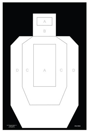 Action Target IPSC Unofficial High Visibility Paper Practice Target   IPSC-PBKB