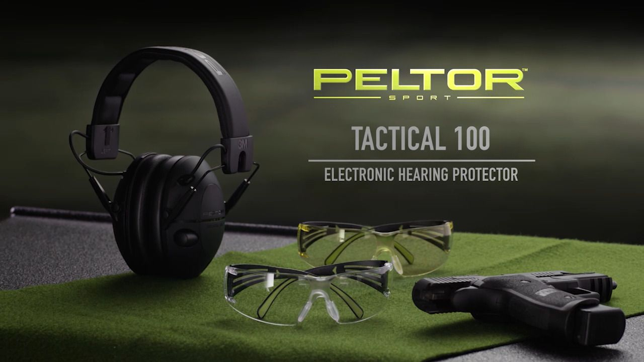 Peltor Tactical 100 Electronic Hearing Protection Ear Muffs | 11% Off 4.5 Star Rating w/ Free ...