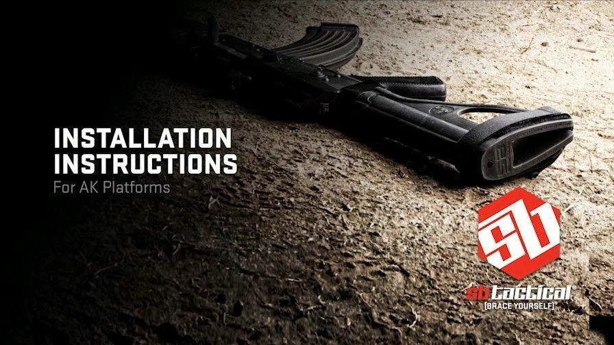 SB Tactical SOB-47 Pistol Stabilizing Brace for AK47/74