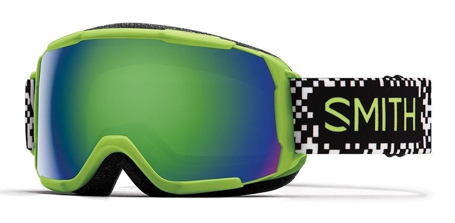 Smith Grom Youth Snow Goggles  - Men's,  Game Over, Green Sol-X   GR6NXFGO19  shop online