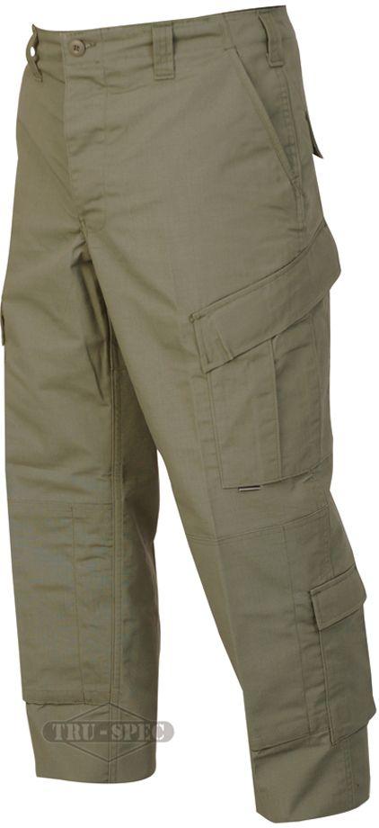 Tru-Spec Tactical Response Pants, POLYCO Rip, OD Green, 3XL, Long 1285028