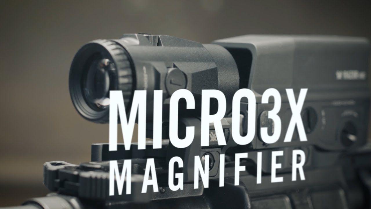 Vortex Micro 3x Magnifier, Black, V3XM