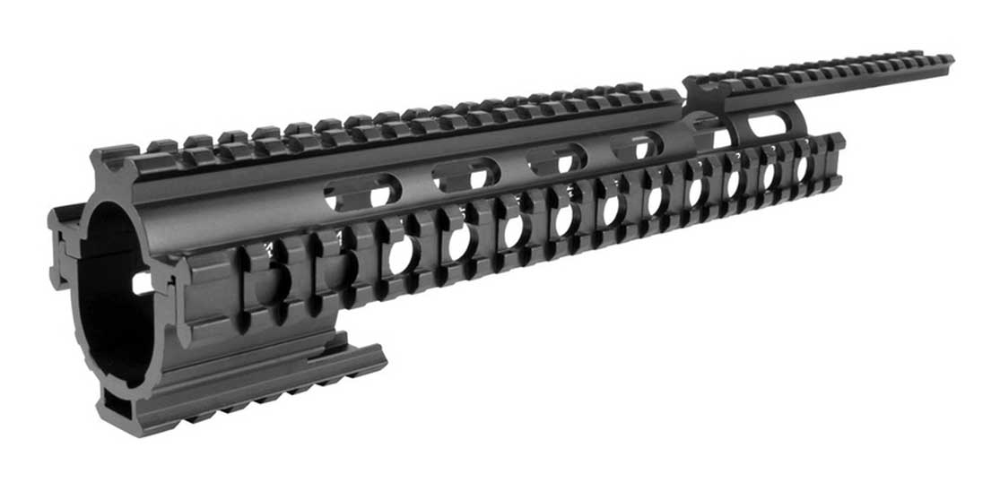 AIM Sports Ruger 10//22 Tactical Quad Rail Picatinny-Weaver Mounting