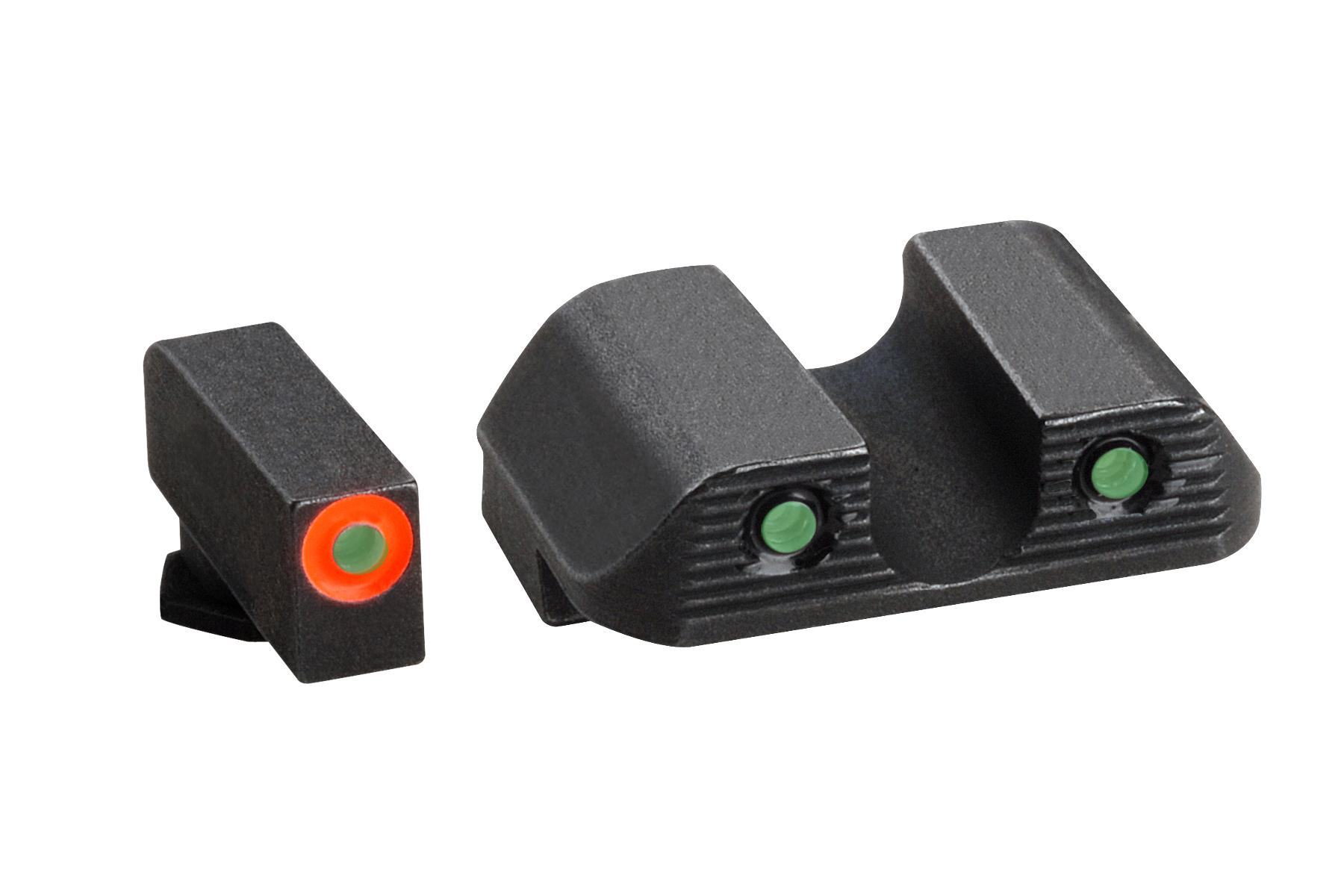 SW456 Ameriglo Tritium M/&P Shield Spartan Operator Orange//Green Sights Md