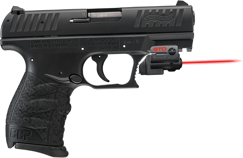 ArmaLaser GTO/FLX Finger Touch Red Laser Sight for Walther Handguns