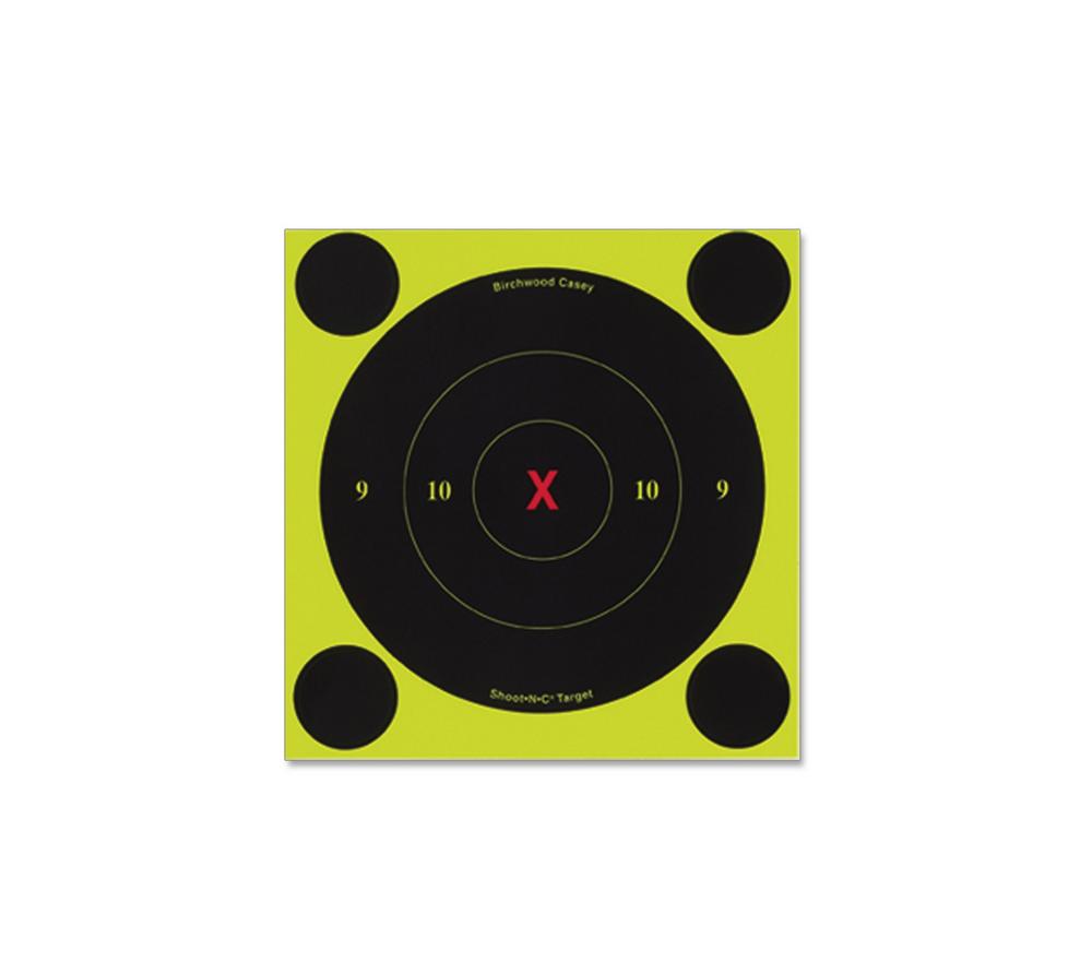 12 Targets Birchwood Casey Shoot-N-C 6-Inch Bulls-Eye Target