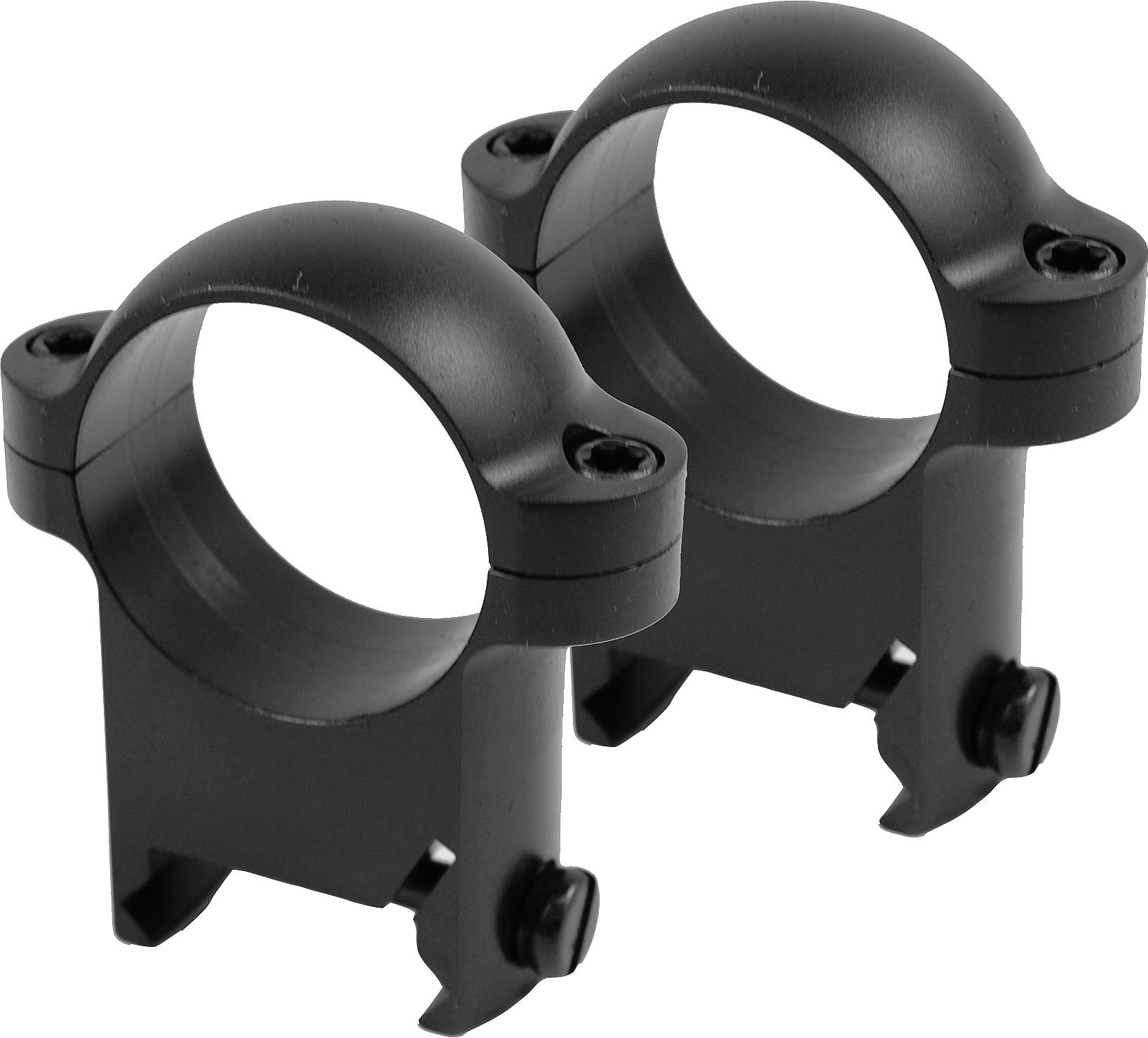 "Burris 1/"" Zee Rings-High Weaver Style-Black Matte-420087"