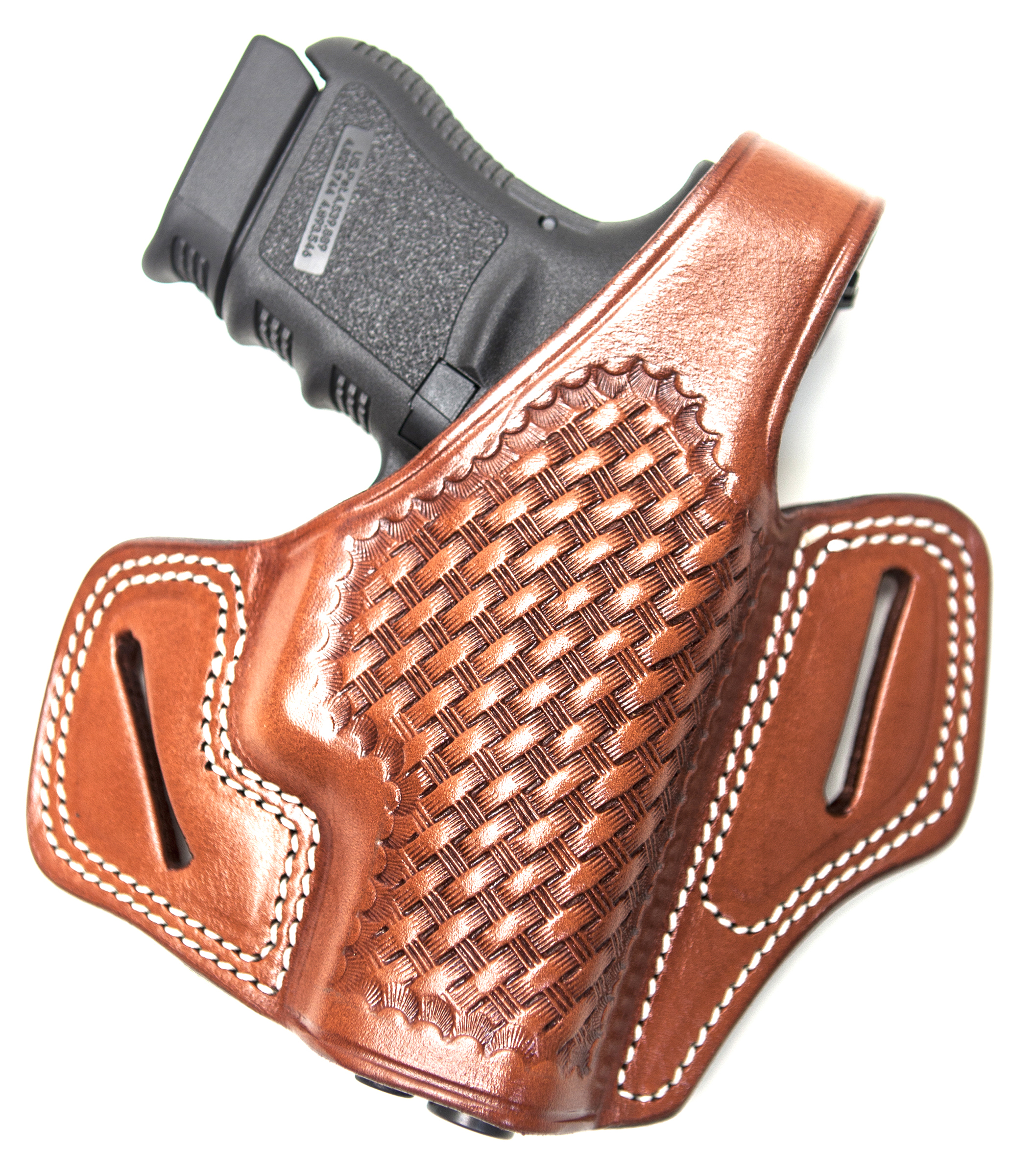 Cebeci Arms Sig Pro SP 2340 Leather Baksetweave Pancake Holster