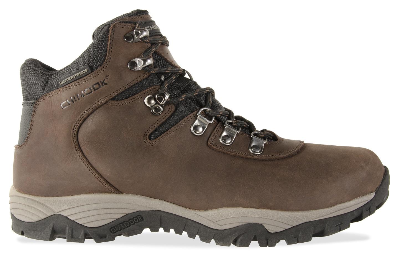 Brown Chinook Footwear Tamolitch Full Grain Leather Waterproof Hiker Boot Mens 8500-201-15 15