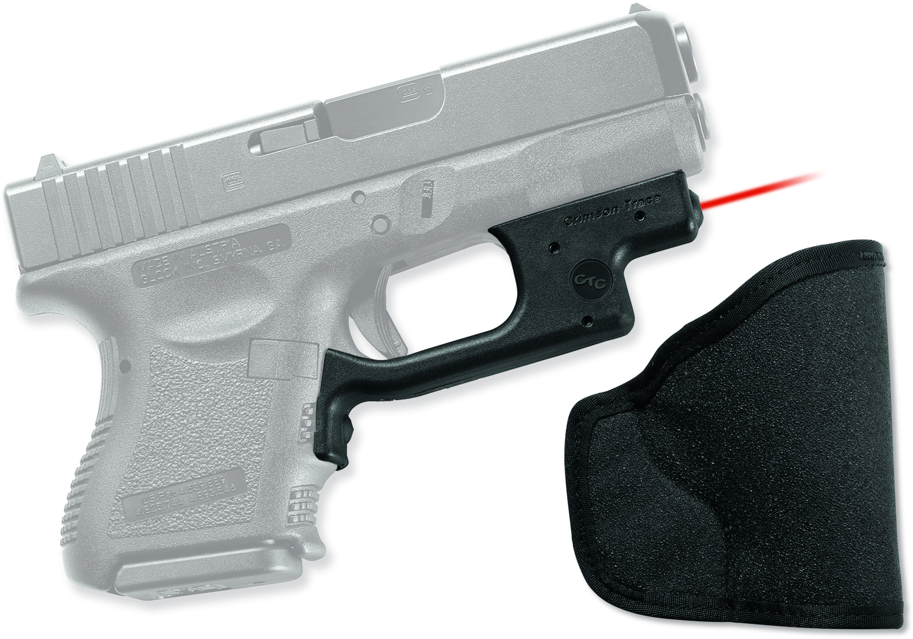 Crimson Trace Laserguard for Glock 19/23/25/26/27/28/32/33/36/38/39 LG436