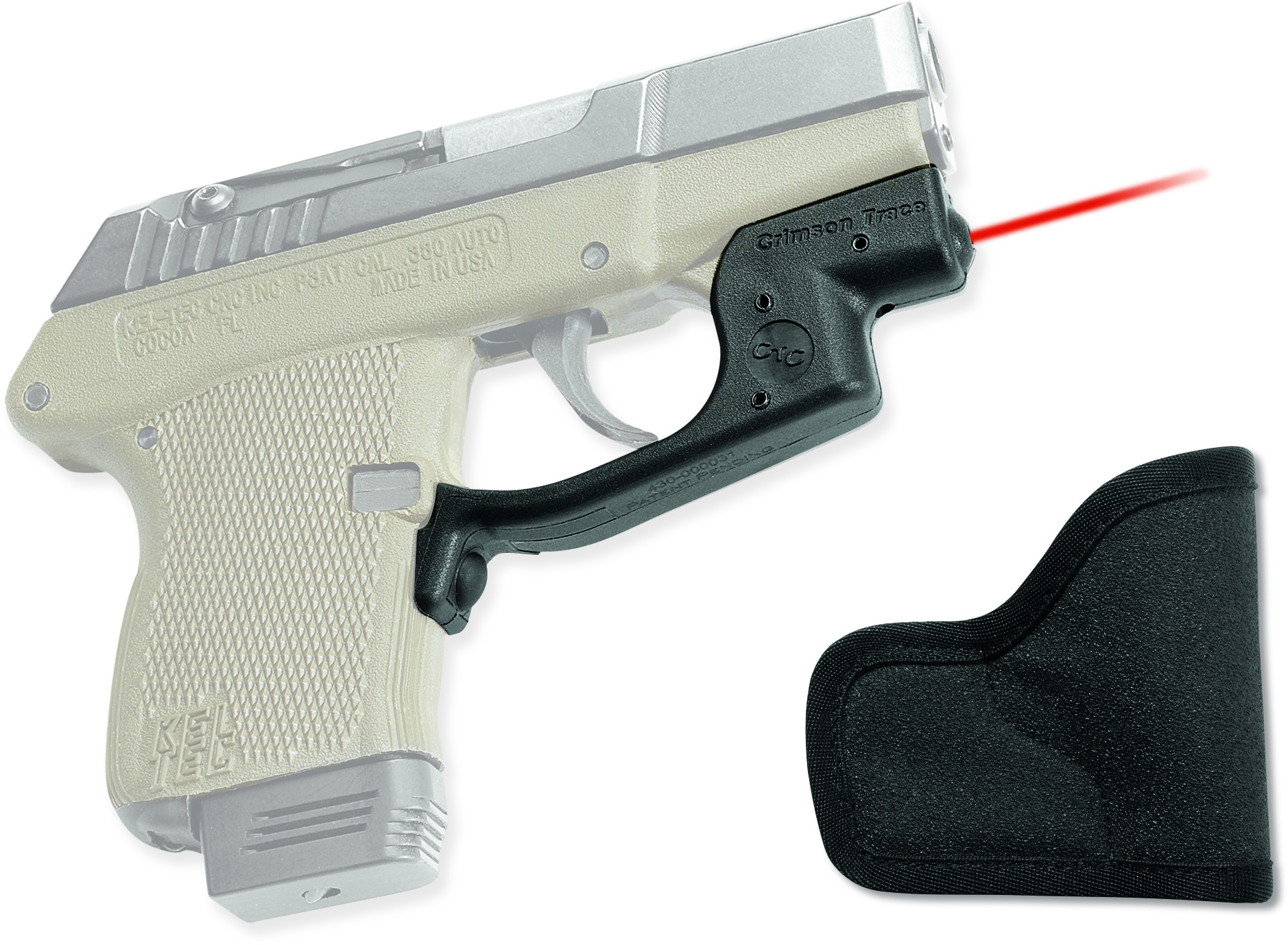 Crimson Trace Laser Guard for Kel-Tec P3AT and P32