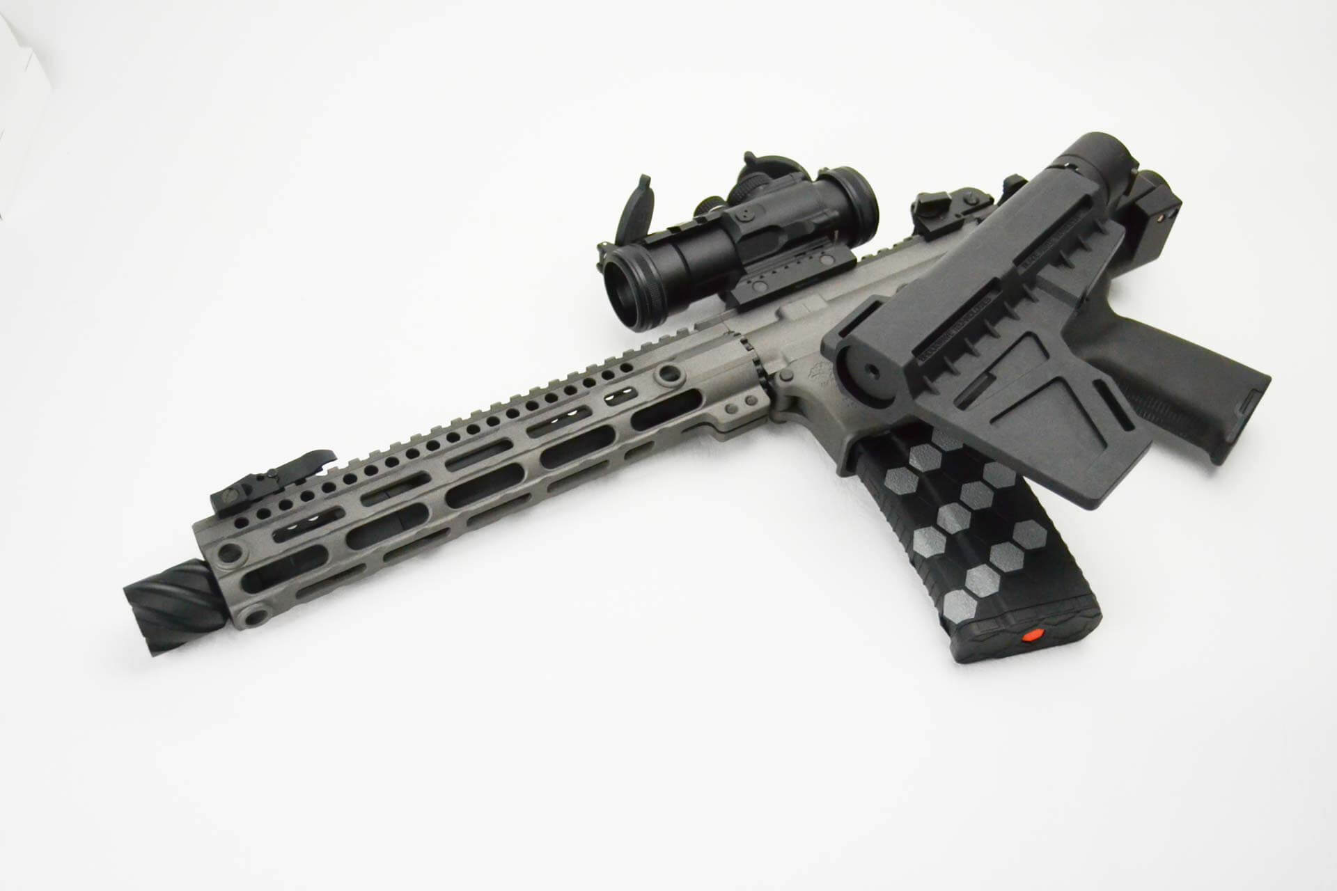 Dead Foot Arms Modified Cycle System Rifle Caliber Bolt Carrier Group  w/Left Side Folding Stock Adapter