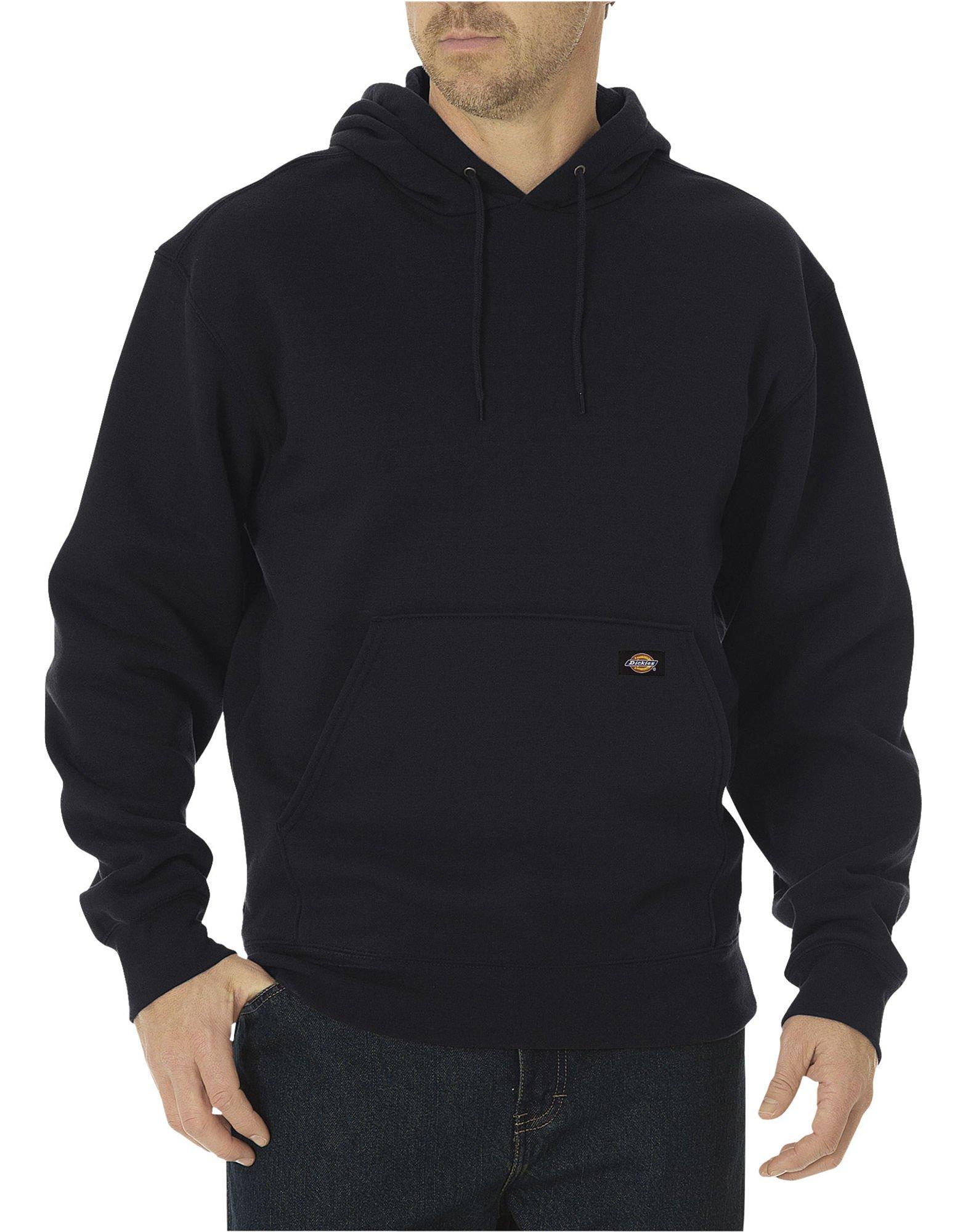 New Dickies Men/'s Fleece Pullover Flannel Lined Hoodie Black XL Hoodies