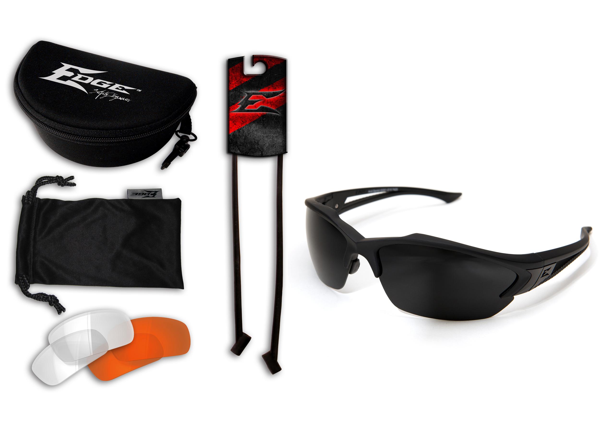 Edge Eyewear Blade Runner Glasses Matte Black Frame with Gasket//Clear Shield Lens