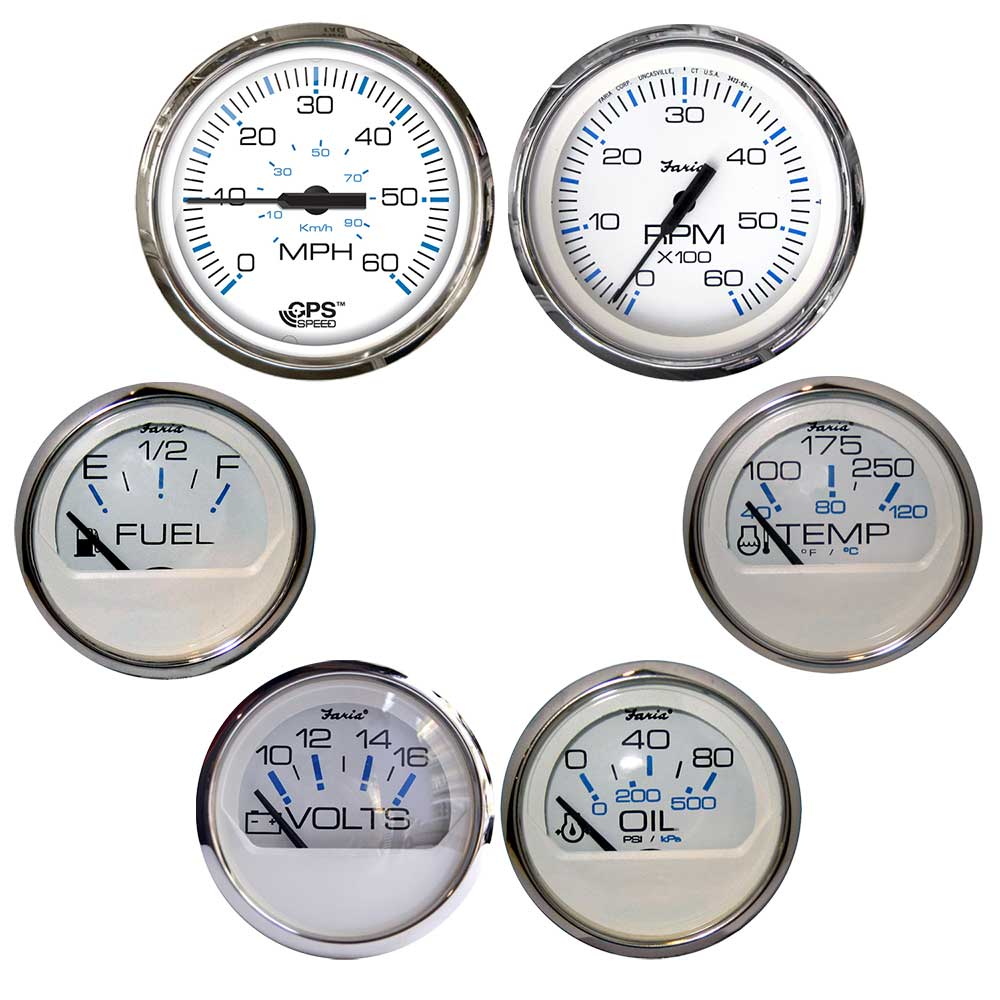 Faria Chesapeake SS Instruments Oil Pressure Gauge 0-80 psi