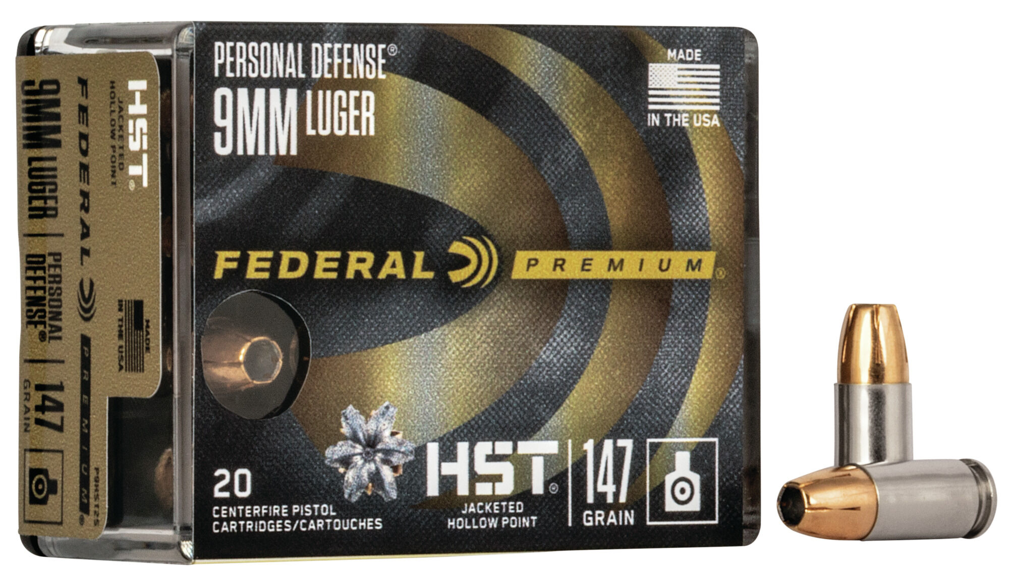 Federal Premium 20mm Luger 20 Grain HST Jacketed Hollow Point ...