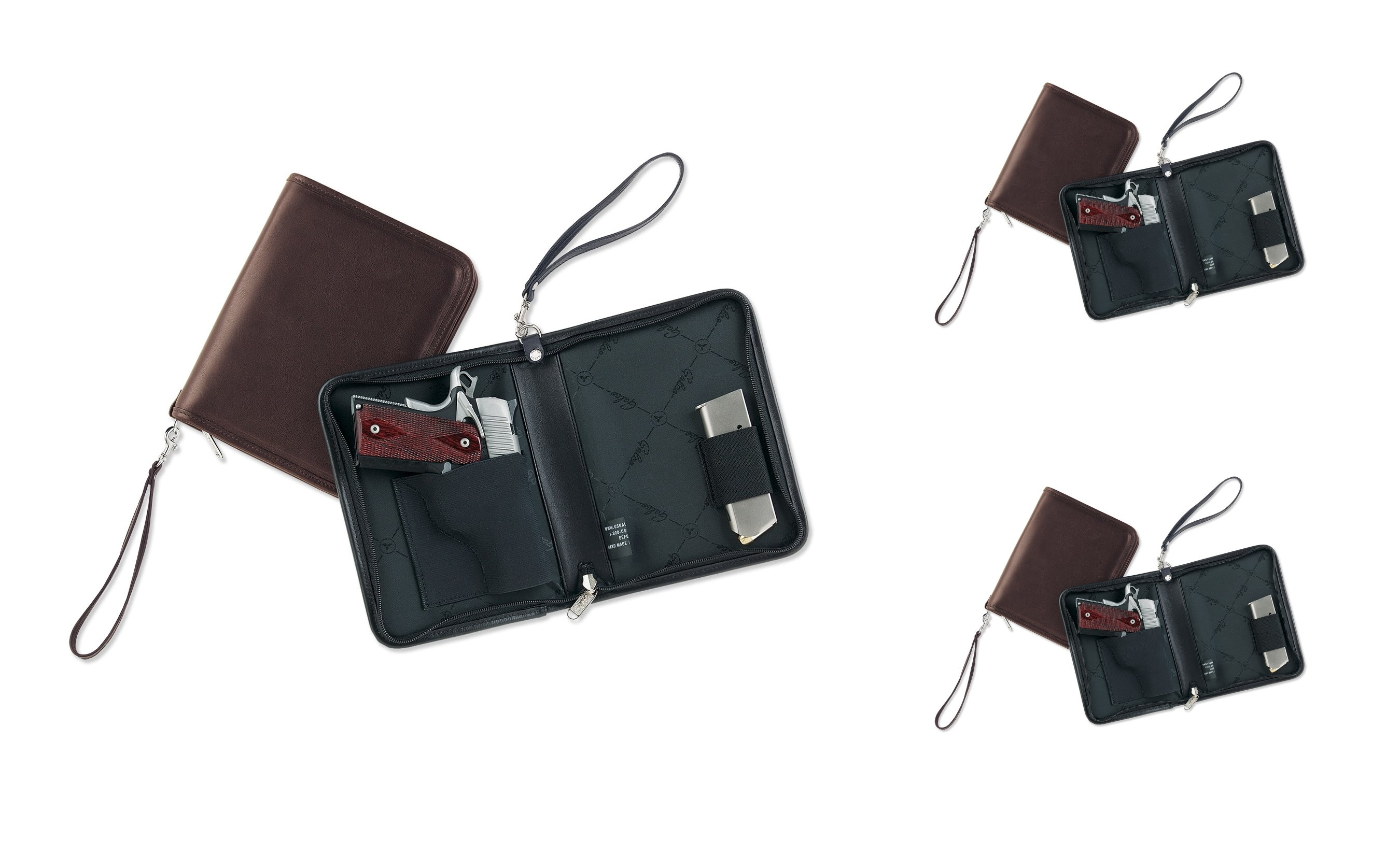 Galco Defense Planner Concealed Compact Pistol/Handgun Carrying Case/Holster, Leather