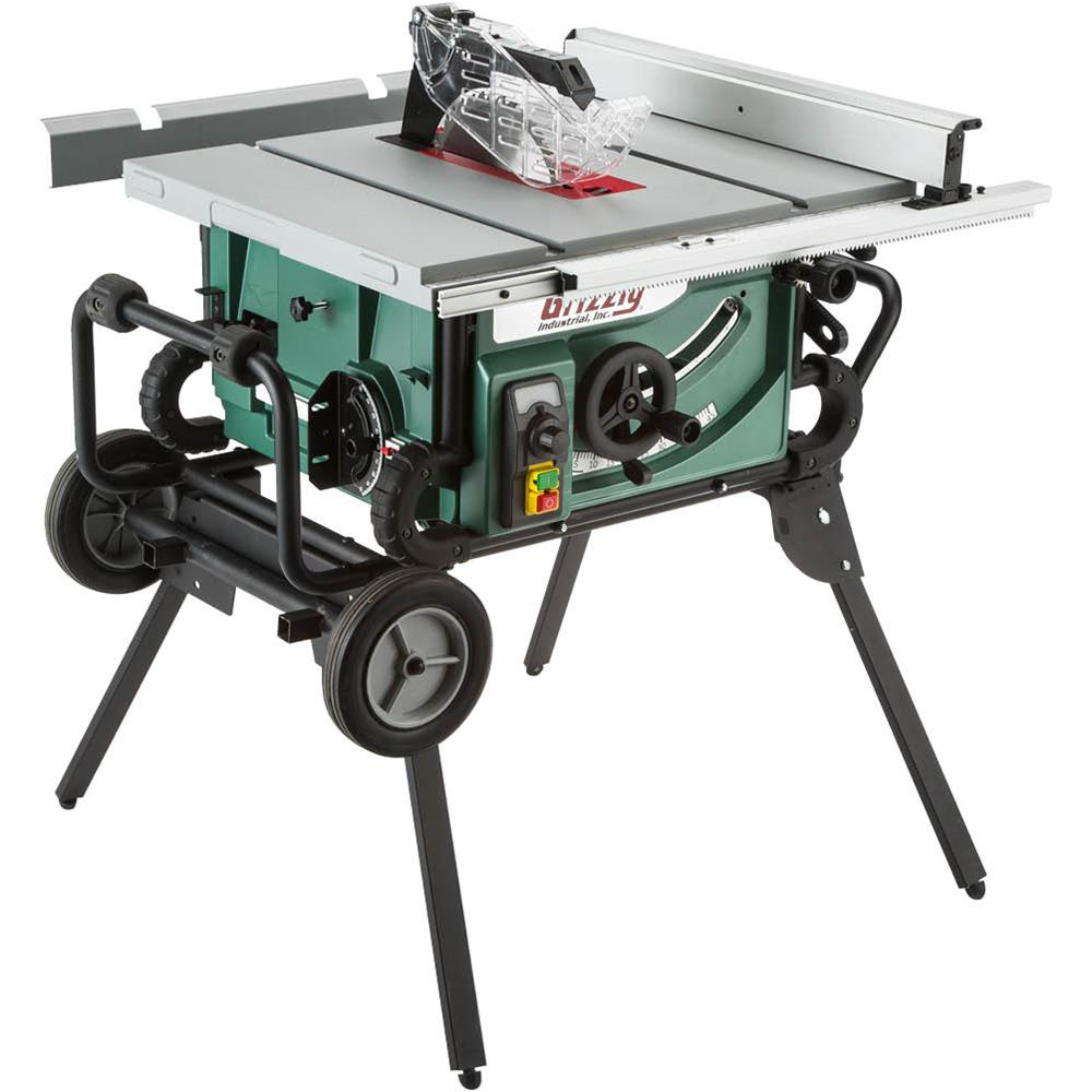 Grizzly Industrial Portable Table Saw w/Roller Stand