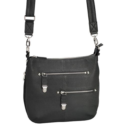 Gun Tote'n Mamas Concealed Carry Chrome Zip Handbag